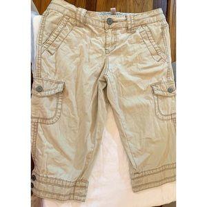 Aeropostale Khaki Cargo Shorts/Capris